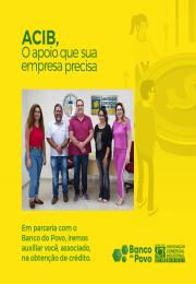 Acib Birigui anuncia parceria com Banco do Povo Paulista para trazer benefícios aos empresários do varejo.