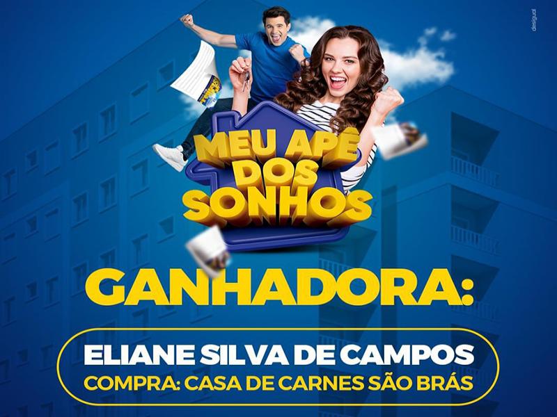PARABÉNS À GANHADORA DO MEU APÊ DOS SONHOS - ELIANE SILVA DE CAMPOS!
